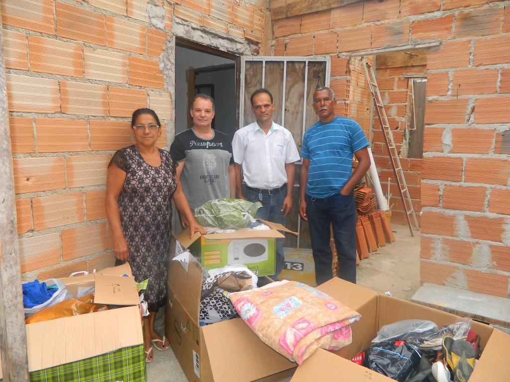 Entrega de doações Aslemg